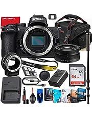 $1059 » Nikon Z50 Mirrorless Digital Camera with Nikon Z DX 16-50mm Lens & FTZ Mount Adapter Bundle + Premium Accessory Bundle Including 64GB Memory, Photo/Video Software Package, Shoulder Bag & More