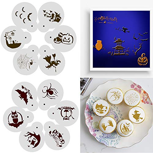 Cake Spray Mold, Elevin(TM) 6 Pcs DIY Cake Coffee Stencils Spray Mold Romantic Rose Love Decorating Print Mo (G) ()