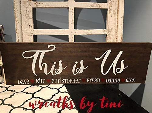 Amazon Com This Is Us Family Wood Sign Personalized With Names