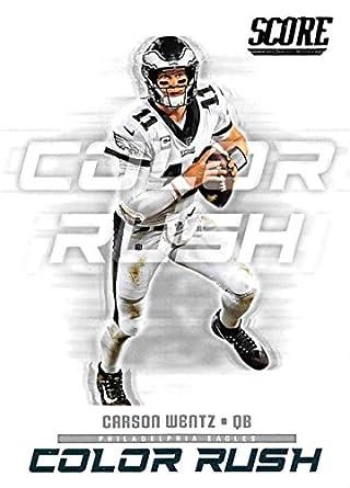 newest d91f0 4c195 Amazon.com: 2018 Score Color Rush #6 Carson Wentz ...
