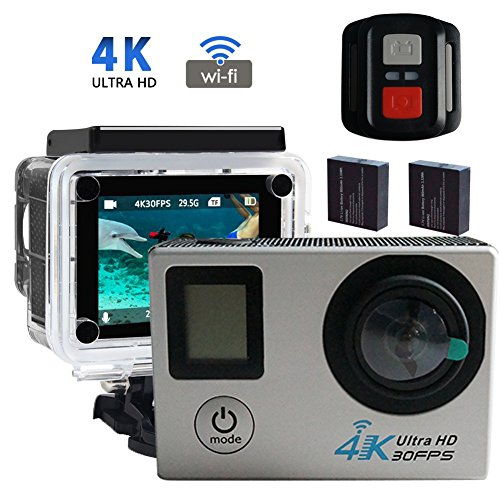 "4K Camera 2.0"" LCD Dual Screen WiFi Action Camera Full HD 16MP 170 Degree Wide Angel Sports Camera Mini Camera Action Cameras adventurers"
