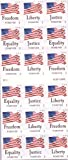 USPS Forever Stamps Four Flags ATM Sheet of 18 x Forever US Postage Stamps