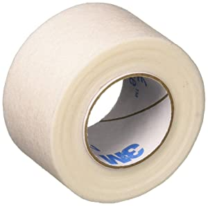 """3M Micropore Paper Tape - White, 1"""" x 10yds (Box of 12)"""