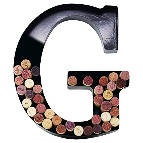 Metal Wine Cork Holder Monogram Decorative Wall Letter (G) (Wine Wall Holders)