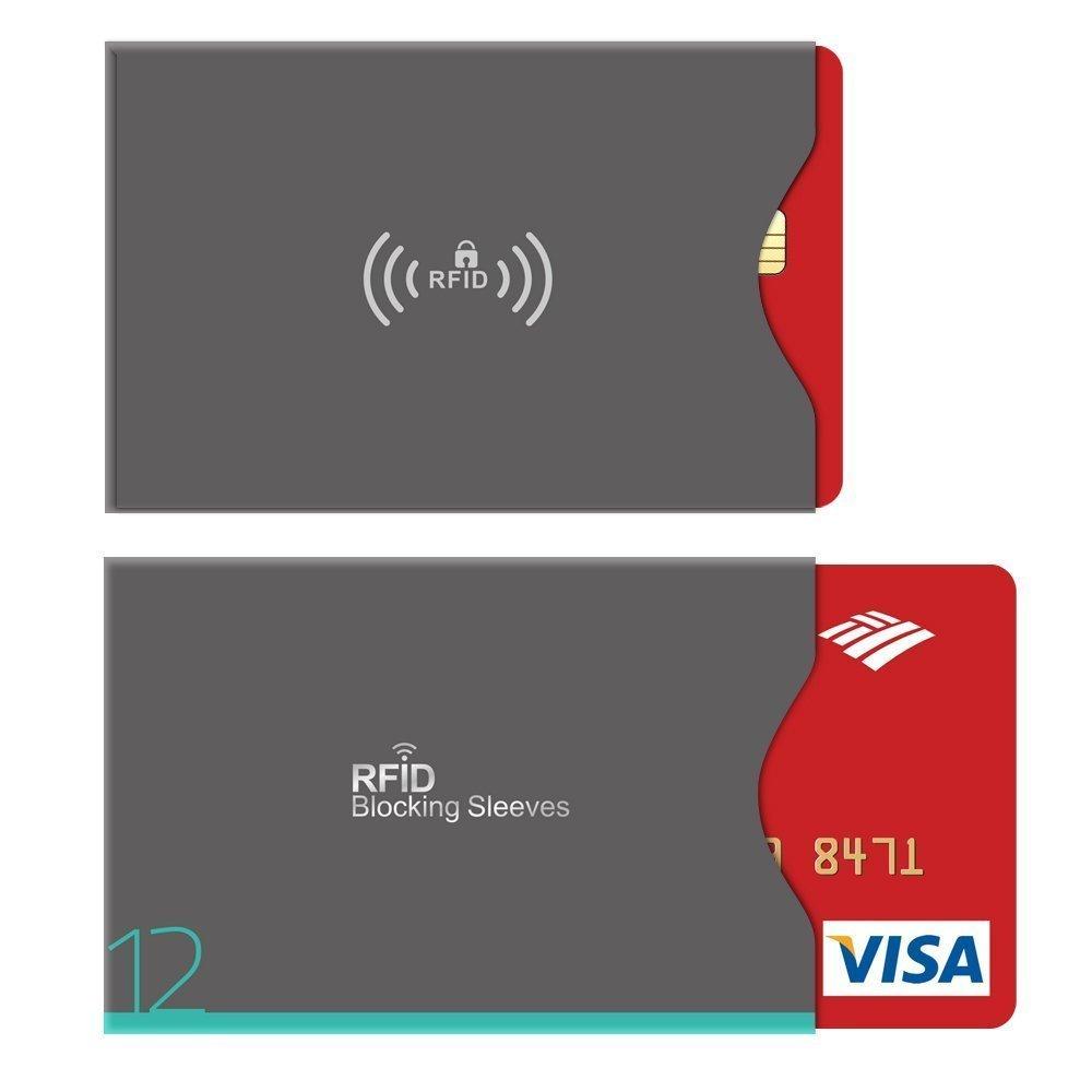 Aerb 16-Pack Tarjeteros para Tarjetas de Credito y Pasaporte Bloqueo RFID 12 Protectores Tarjeta Credito /& 4 Protectores Pasaporte