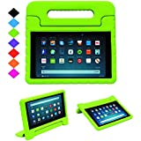 TIRIN Shock Proof Case for Fire HD 8 2017/2018 Tablet–Kids Proof Convertible Handle Light Weight Protective Stand Case for All-New Amazon Fire HD 8 Tablet (8th/7th Generation, 2018/2017 Release),Green