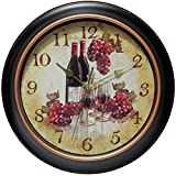 Grape Kitchen Decor Infinity Instruments Pinot 12 inch Silent Sweep Wall Clock