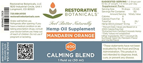 CALMING-BLEND-Hemp-Oil-Infusion-400-mg-Mandarin-Orange-Flavor-1-ounce-30ml-supports-functional-calming-for-stress-relief-relaxation-healthy-sleep-patterns-and-achy-muscles
