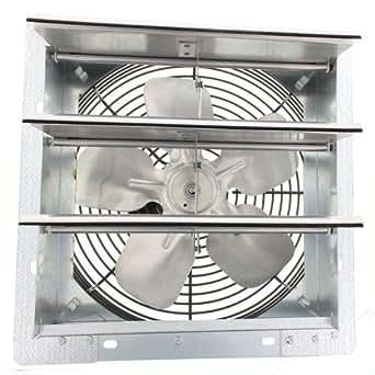 """Fantech 2SHE0721 Axial Wall Shutter Fan, Direct Drive, 1/30 hp, 115V, 1 PH, TEFC, 7"""""""