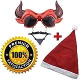Christmas Devil Mask Sunglasses Wacky Party