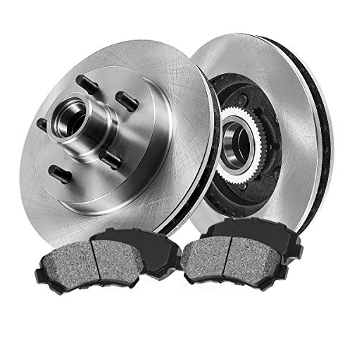 FRONT 267 mm Premium OE 5 Lug [2] Brake Disc Rotors + [4] Metallic Brake Pads