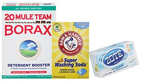 Laundry Soap Kit: DIY Powder Detergent w/ Borax, Washing ...