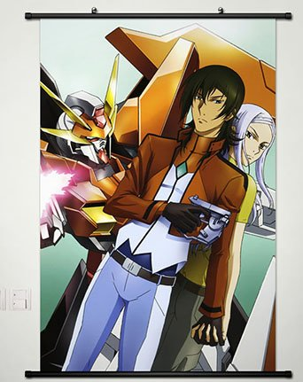 Wall Scroll Poster Fabric Painting For Anime Mobile Suit Gundam 00 Allelujah Haptism & Soma Peiris 039 L