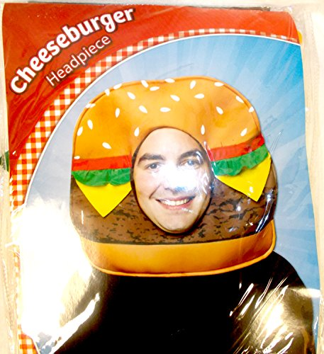 Rasta Imposta Brown Red Green Yellow Cheeseburger Headpiece Costume]()