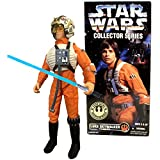 SW Star Wars Year 1996 Collector Series 12 Inch Tall Fully Poseable Figure - LUKE SKYWALKER in Authentically Styled X-Wing Gear with Helmet, Harness, Galaxy Map and Lightsaber