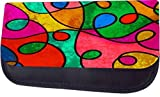 Abstract Stained Glass Style Print Design TM Pencil Case Made in the U.S.A.
