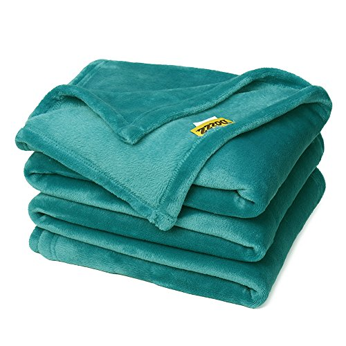 Super Soft Cozy Oversized Throw Blankets For Home And Outdoor, All Season Plush Blanket For Couch, Sofa, Chair, & Bed, Beautiful Color Teal (Sofa Pillows Throw Oversized)