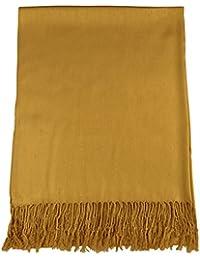 CJ Apparel Gold Solid Color Design Shawl Pashmina Scarf Wrap Stole Seconds NEW