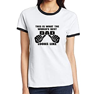 Women's Two-toned T Shirt-Fashion This Is What The World's Best Dad Looks Like Black SizeXL