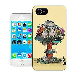 Unique Phone Case tree of modern art Hard Cover for iPhone 4/4s cases-buythecase