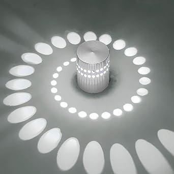 Plafón LED Lámpara de pared Lámpara de pared regulable pared interior luz piso bombilla espiral efecto para piso Dormitorio Balcón Salón Baño Escaleras Pasillo lámpara techo foco: Amazon.es: Iluminación