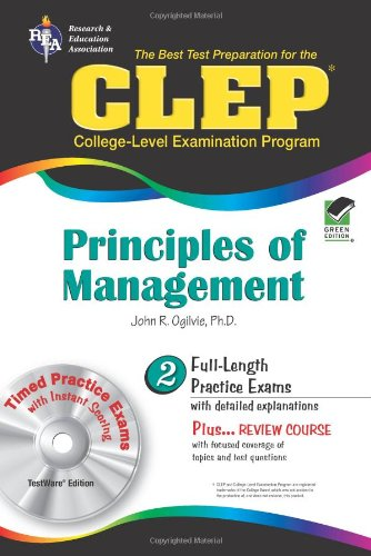 CLEP Principles of Management w/ CD-ROM (CLEP Test Preparation)