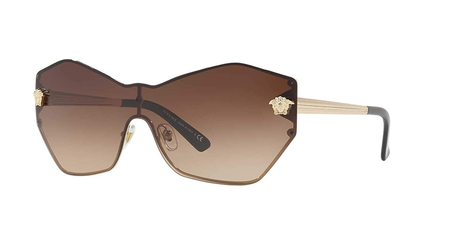 3302170053f0 Amazon.com: Versace Womens Sunglasses Gold/Brown Metal - Non-Polarized -  43mm: Clothing