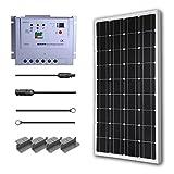 Renogy 100 Watt 12 Volt Monocrystalline Solar Starter Kit w/ 20A MPPT Charge Controller