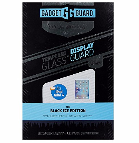 Gadget Guard Black Ice Edition Tempered Glass Screen Guard For Apple Ipad Mini 4 - Clear by Gadget Guard