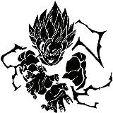 LCK Unique Design DBZ Dragon Ball Z Super Saiyan Goku, Purple, 22 Inch, Die Cut Vinyl Decal, For Windows, Cars, Trucks, Toolbox, Laptops, Macbook-virtually Any Hard Smooth Surface
