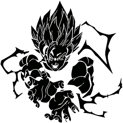 Dbz dragon ball z super saiyan goku black 6 inch die cut vinyl