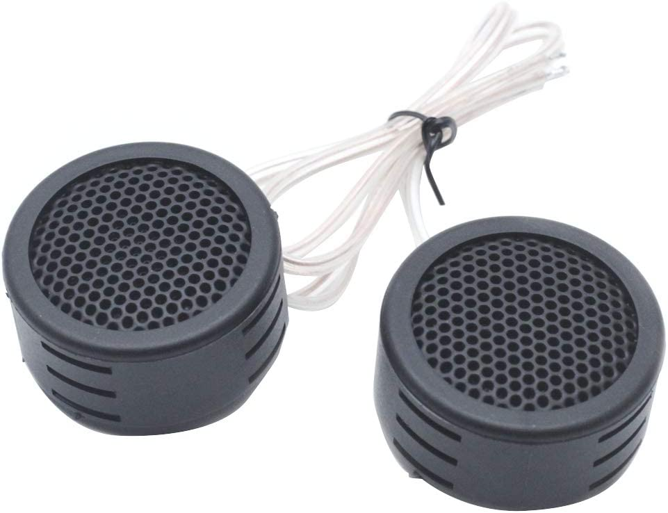 AUTUT 2pcs Auto High Efficiency Dome Tweeter Speakers with Build-in Crossovers