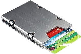 Porta carte di credito automatico RFID Porta carte di credito Portafoglio sottile minimalista Portafoglio Card Protector (Argento)