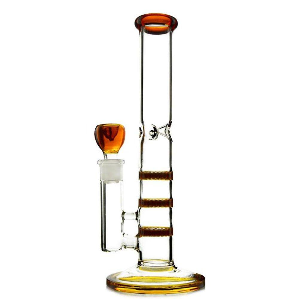 Rora Straight Glass Bongs Honeycomb Height 17In Three Layers Percolator