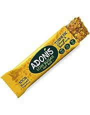 Adonis Low Sugar Nut Bar - Barre aux Noix du Brésil saveur Curcuma et Orange Sans Sucres Ajoutés | 100% Naturelle, Faible teneur en Sucre et Glucides, Sans Gluten, Vegan, Keto, Paleo, Superfood