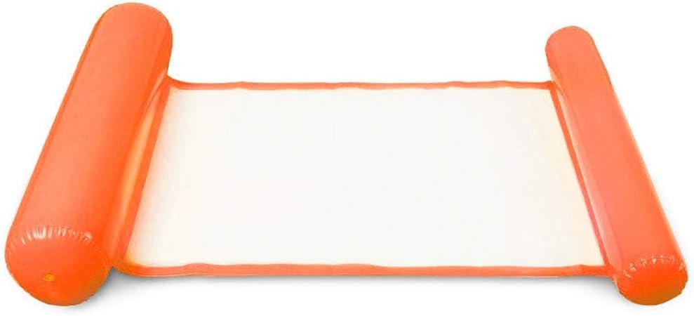 YUYDYU Cómodo y Duradero: Esta Hamaca Inflable está Hecha de PVC Respetuoso con el Medio Ambiente.Suave y cómoda Hamaca de Malla con Cojines inflables en Ambos Extremos.
