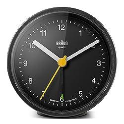Braun BNC012BKBK Classic Alarm Quartz Alarm Clock