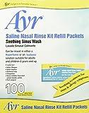 Ayr Saline Nasal Rinse Kit Refill Packets, 100 Count