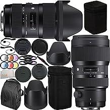 Sigma 18-35mm f/1.8 DC HSM Art & 50-100mm f/1.8 DC HSM Art Dual Lens Bundle for Nikon. Includes Manufacturer Accessories + 2 3PC Filter Kits (UV-CPL-FLD) + 6PC Graduated Filter Set (Red, Yellow, Blue, Orange, Grey, Purple) + MORE