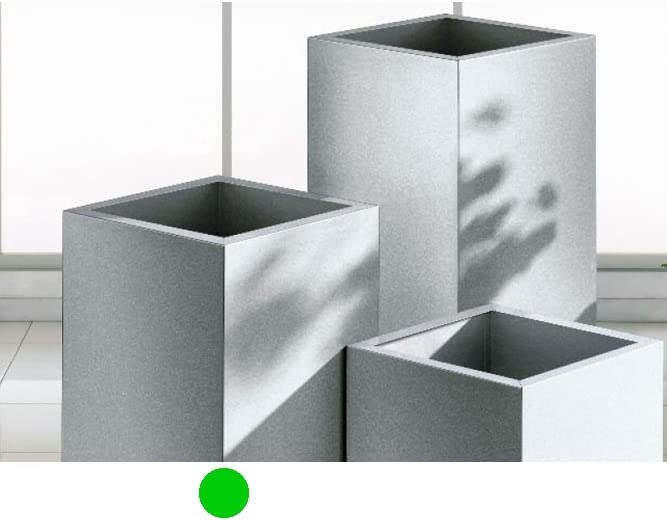 Cone Pflanzengef/ä/ß 67 cm Silber rollbar
