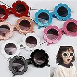 Cute Kids Toddler Baby Round Flower Sunglasses UV
