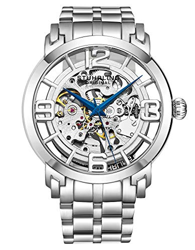 Stuhrling Original Men's 165B2B.33112 Winchester 44 Elite Analog Automatic Self Wind Silver Stainless Steel Watch ()