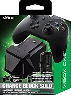 Nyko Charge Block Solo - Controller Charging Station with Rechargeable Battery, Cover and included Micro-USB/AC Power Cord for Xbox One (B01H1QQWFM) | Amazon Products