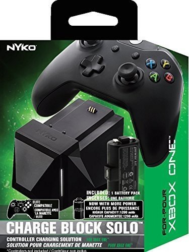 - Nyko Charge Block Solo - Controller Charging Station with Rechargeable Battery, Cover and included Micro-USB/AC Power Cord for Xbox One