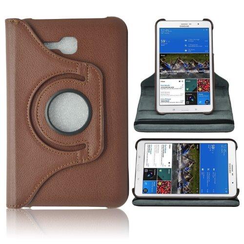 iProtect Kunstleder Tasche braun 360 Grad für Samsung Galaxy Tab 3 7.0 lite Schutz Hülle Case 7 Zoll