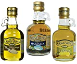 Mantova Grand'Aroma Extra Virgin Olive Oil Trio - Marinata, Truffle and Sicilian Lemon (Pack of 2)