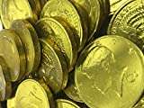Solid Milk Chocolate Large Kennedy Gold Coins - 1 Full Pound Bulk Wholesale