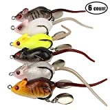 6 Pcs Topwater Frog Rat Fishing Lure Kit Bass Freshwater Saltwater Soft Mice Artificial Lures Baits