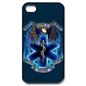 Fancy EMT EMS Medical Rescue Lightweight Printed Hard Plastic case Snap-on cover for iphone 5 5s 4g- Black 022605