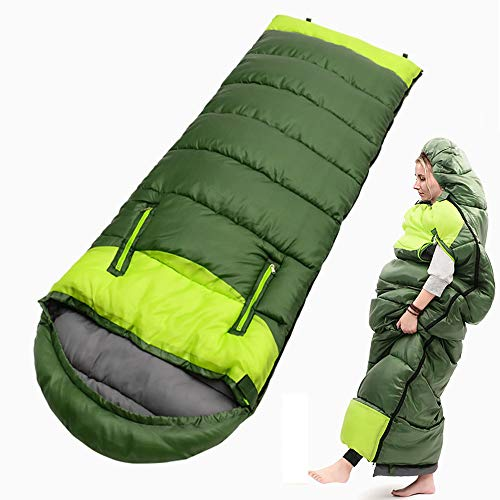 DLin Wearable Sleeping Bag for Adults and Kids Waterproof Lightweight Portable 3-4 Season Mummy Sleeping Bags for Camping Indoor Outdoor Backpacking